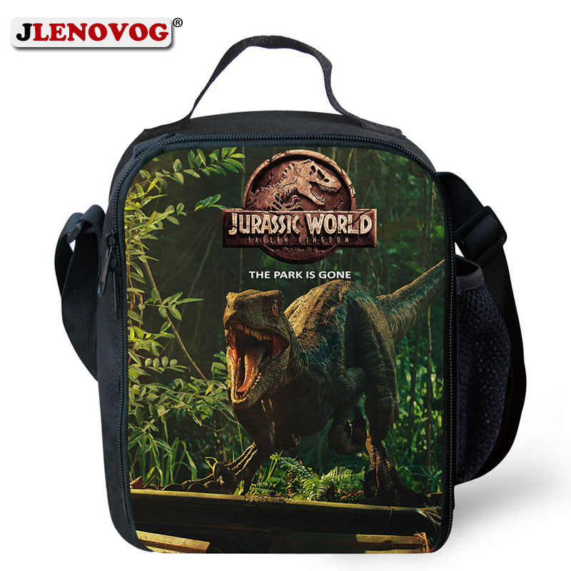 Universal Children Jurassic Worlds 2 Lunch Bag Movie evolution dlc Park Rectangular Lunch Tote Box for Boys Teenages Stdents New