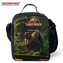 Universal Children Jurassic Worlds 2 Lunch Bag Movie evolution dlc Park Rectangular Tote Box for Boys Teenages Stdents New