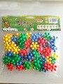 Дети diy сборки игрушки пластиковых кирпичей смешно настольный блок игры дети IQ обучение Plum quincunx building block классические игрушки