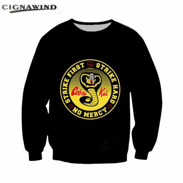 New arrival Cobra Kai Karate Kid Movie hoodies men women 3d color printed  sweatshirt streetwear unisex 63687e9875