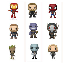 Figure Model Toy Infinity War Thanos Captain America Iron Man Action Figure Thor Toy Spiderman Panther PVC Model Doll avengers infinity war iron man captain america thor batman black panther with led light and sound pvc action figures toy box w86