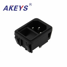 4PCS  AC-02A AC-214 SS-120D 10A250V Female socket AC power Without ears