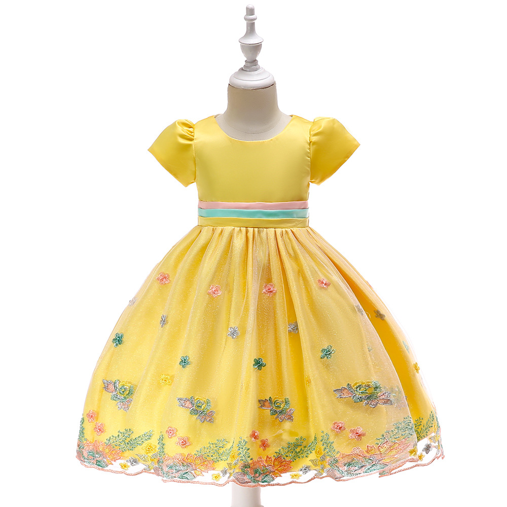 Flower     Girl     Dresses   for Weddings Satin Ball Gown Princess   Dress     Girls   vestido de daminha Princess vestido robe