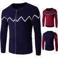 Cardigans homens malhas zipper cardigans camisolas novo 2016 moda inverno térmica vestuário masculino moda homem jumpers blusas