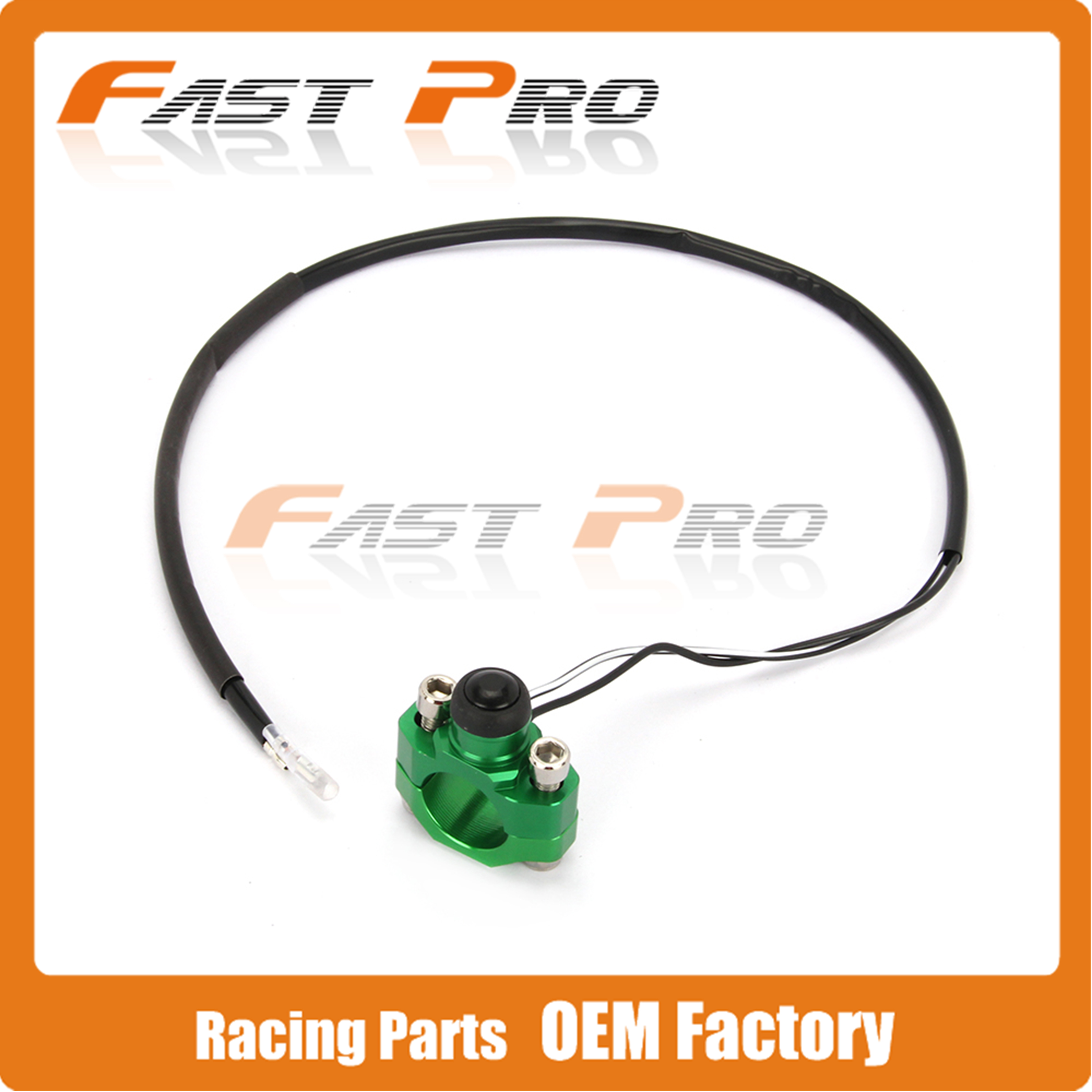 Motorcycle CNC Universal Engine Stop Start Kill Switch With Base For KAWASAKI KX500 KX250F KX450F KLX250 KLX450R KLX150 KLX250