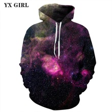 New Fashion Unisex Hooded Sweatshirt 3d Galaxy Space Hoodies Women/Men Hoodie Autumn Spring Thin Tracksuit Pullover S-3XL