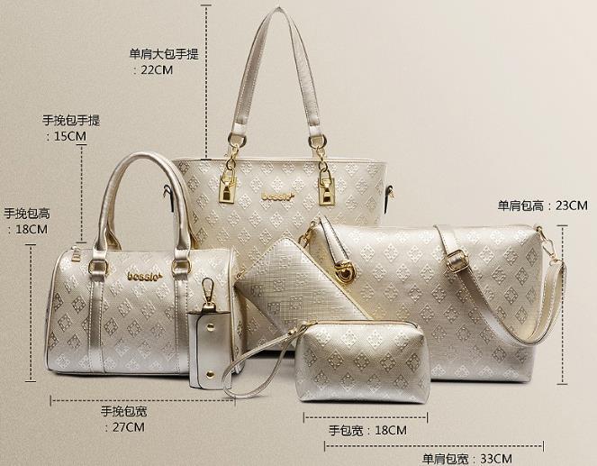 2279e113bbf1 6pcs set Luis Vintage Louis Bag Sac Women Bolsa Feminina Luxury ...