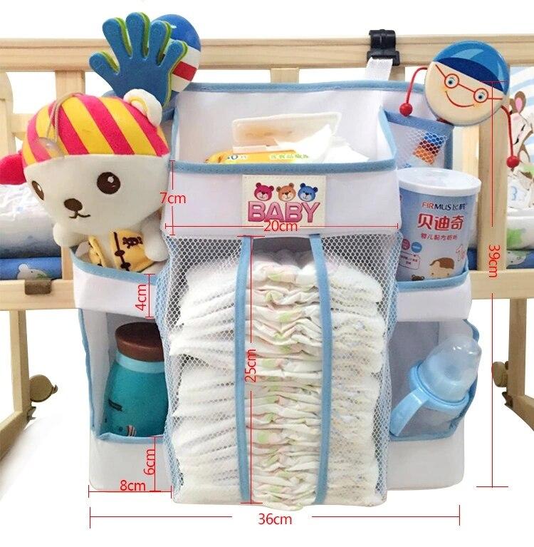 Dziecko Wiszące Worek Do Przechowywania Zabawki Pieluchy 36 * 39 cm - Pościel - Zdjęcie 2