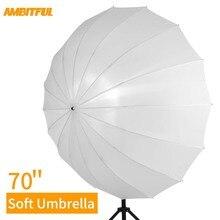"""Godox 7"""" 178 см белый полупрозрачный мягкий зонтик студийный свет полупрозрачный Зонт с большой крышка диффузора"""