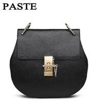 PASTE Genuine Leather Women Bag HOT 2017 Women Messenger Bags Fashion Lady Crossbody Mini Bag Women