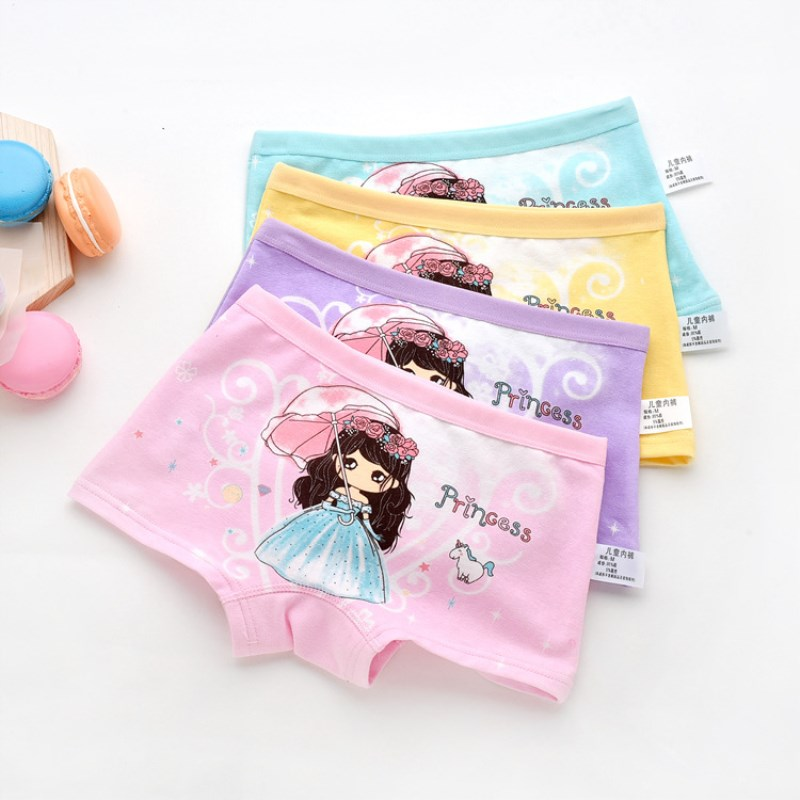 New Cotton Children Panties Girls' Boxer Female Child Underwear Baby Girl Panty Children Clothing 1Pcs