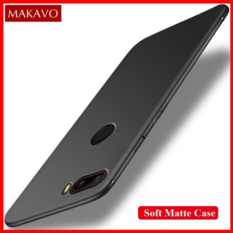 MAKAVO Couverture Pour ZTE Nubia Z18 Mini Cas Pleine Protection Souple Mat Silicone Logement Pour Nubia Z18 Mini Téléphone Cas