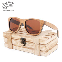Mens Sunglasses Classic Hot Selling Bamboo and Wood Edged TAC Lens UV400 Polarized Ultraviolet-proof