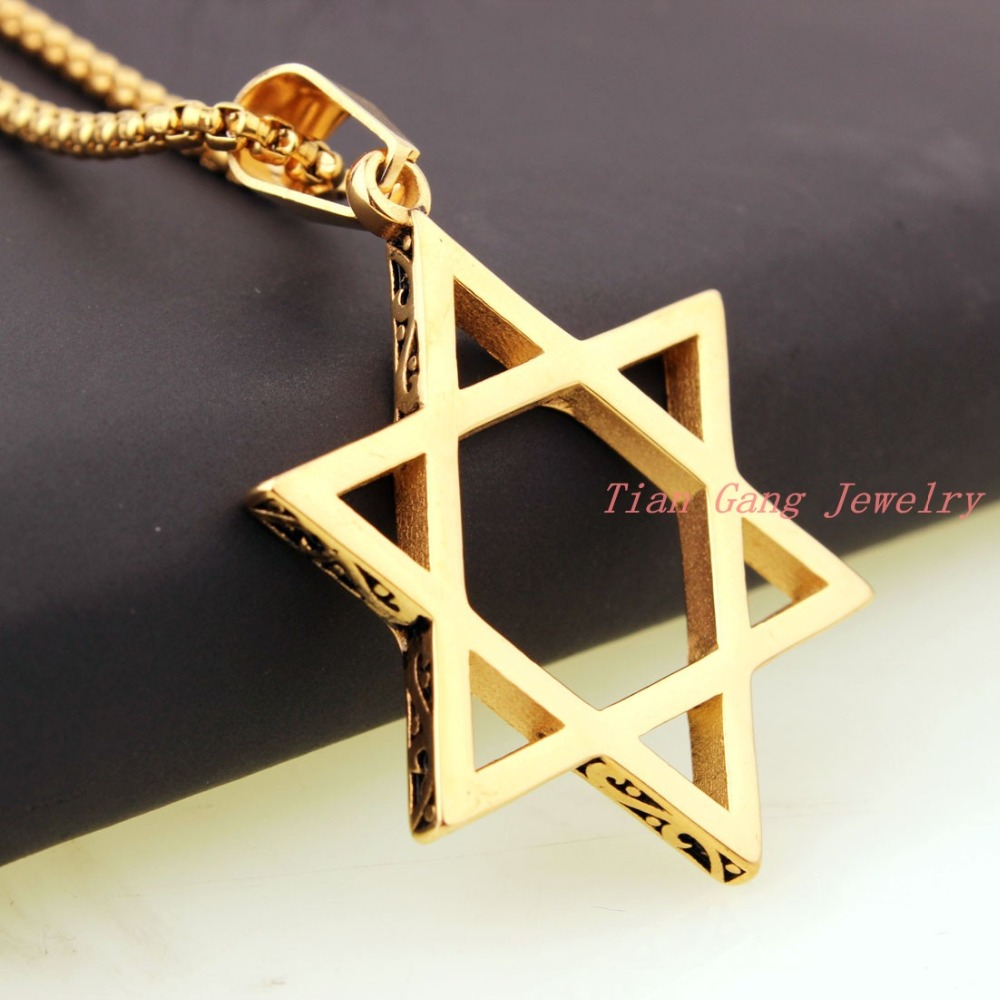 Новый Модные украшения золото полые шестигранные звезды Подвески простой элегантный Для женщин ключицы цепи Ожерелья для мужчин подарки