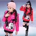 Roupas novas Crianças Mickey & Minnie Meninas do bebê casaco de inverno menina quente e confortável jaqueta Crianças Outerwear 3-6 anos de idade