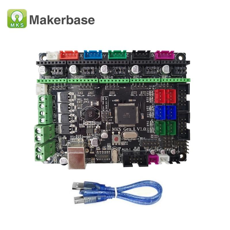 MKS Gen L V1.0 Control Board+MKS TFT32 V4.0 Smart Controller + 5Pcs TMC2208 Driver Module for Ramps1.4/Mega2560 3D Priner Parts-in 3D Printer Parts & Accessories from Computer & Office    2