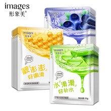 10 шт./лот BIOAQUA Натуральные маски для лица Китайский алоэ Мёд корейская косметика уход за кожей составляют Красота лечение акне лист золотой маска