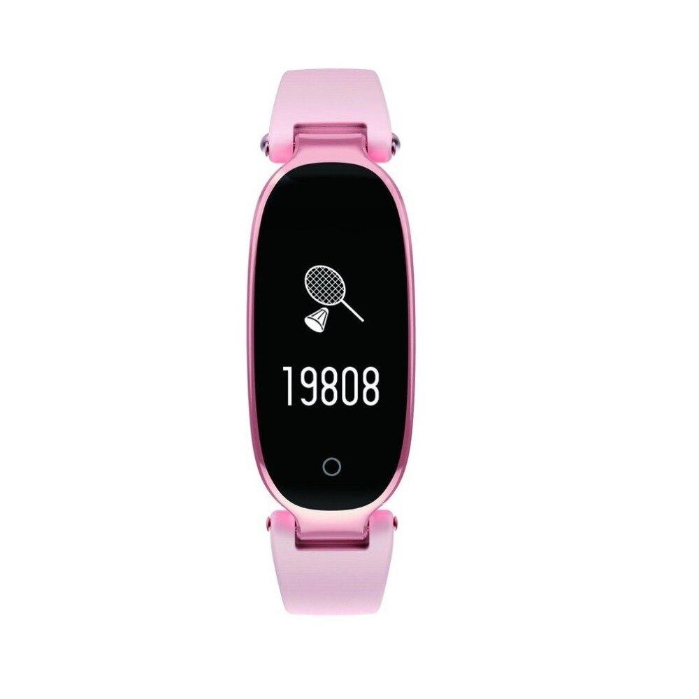 S3 Elegant Design Waterproof Bluetooth Smart Watch Heart Rate Monitor Fitness Tracker Wrist Smartband 0.96 Inch Screen drop ship