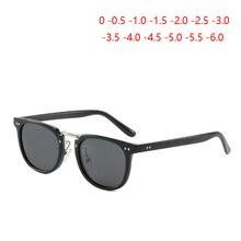 Polarized Men Sunglasses Myopia Square Retro Rivets Gray Len