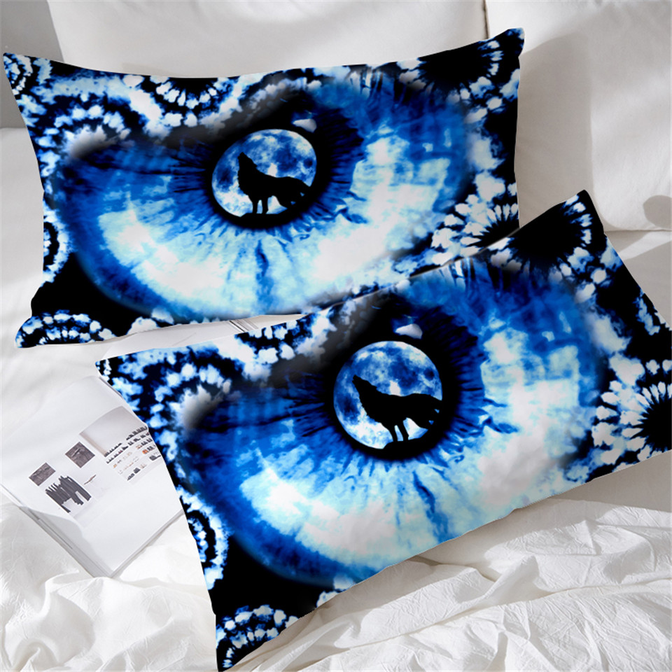 Möbel Wohnen Dekokissen Tie Dye Pillow Cases Indigo Blue Pillow Protector Case Cover 2 Piece Boho Hippie Rvcconst Com