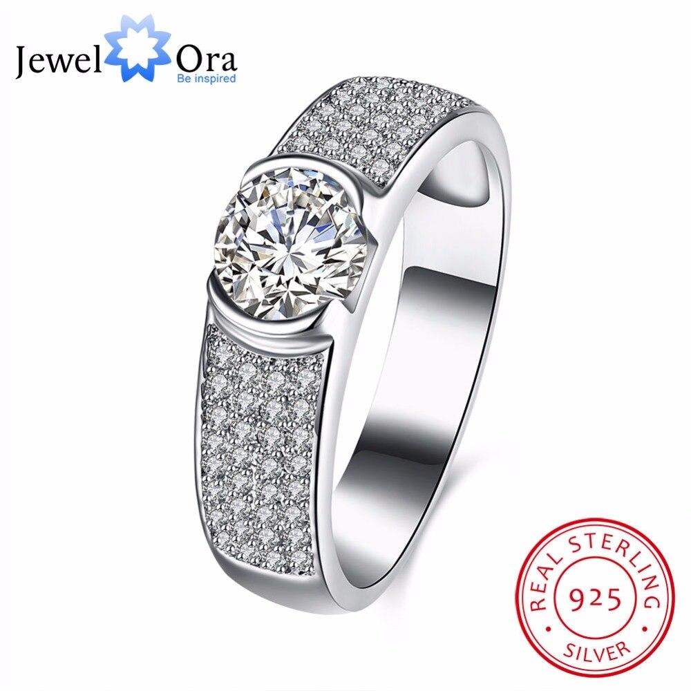 твердые стерлингового серебра 925 обручальное кольцо