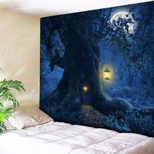Moon Tapestry Psychedelic Wall Hanging Tree Indian Mandala Home Decor Boho Hippie Halloween Art New