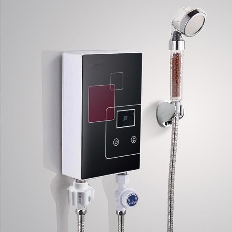6000 W instantané chauffe-eau électrique sans réservoir robinet cuisine chauffage rapide robinet douche arrosoirs salle de bains LED affichage