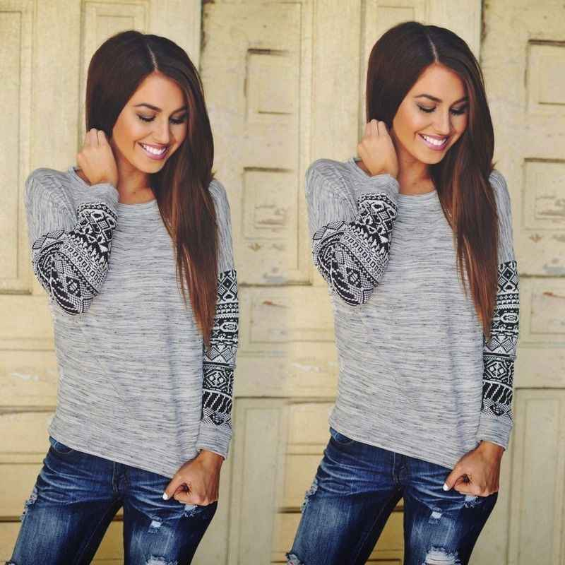 Women Long Sleeve Loose Cardigan Cotton Blend Sweater Jumper Knitwear Outwear Coat Casual T Shirt Gray Color Solid Brief Tee Top