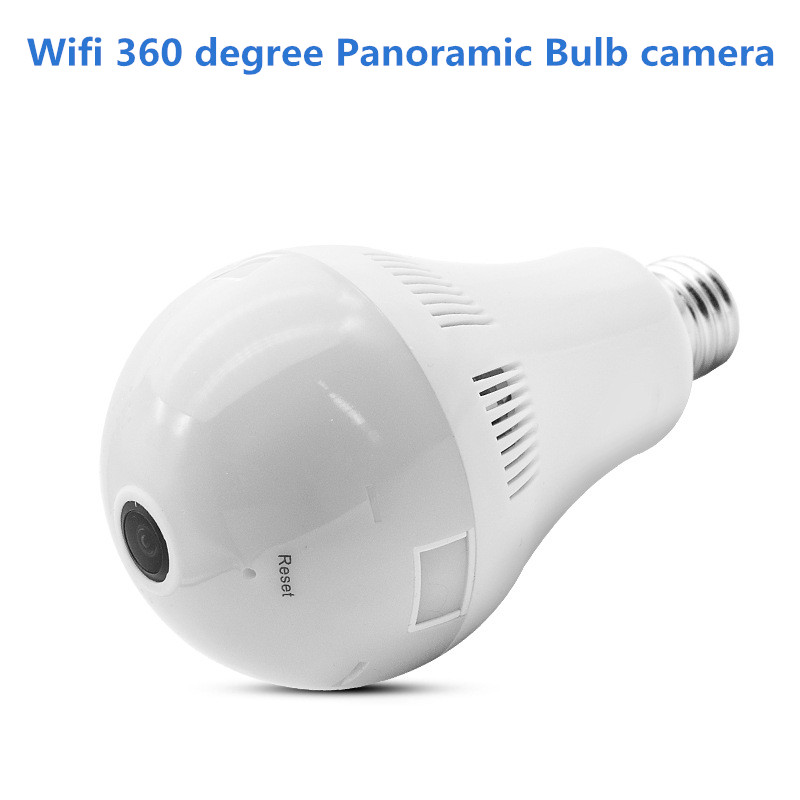 960P 360 Degree Wireless 1.3MP IP Camera Wi-fi Fisheye Bulb Camera CCTV 3D VR Camera Audio Panoramic Camera Smart Home Security panoramic camera 360 degree dome hd 3 0mp ip vr camera wireless wi fi ip camera with audio mobile app remote view plug and play