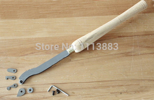 6PCS Interchangable HSS Cutter Hollow Woodturning Tool Gouge