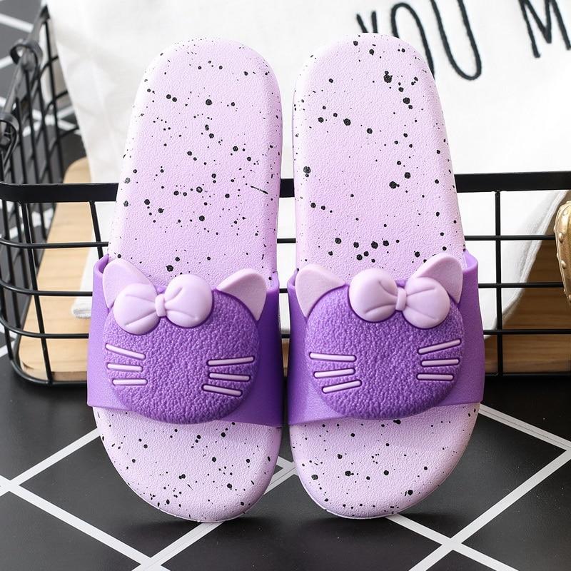 2019 TZLDN Summer New Hello Kitty Cute Home Slippers Soft PVC Women Slippers Non-slip Indoor/Beach slippers 2