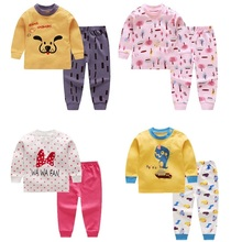Newborn Clothes Cartoon Letter Printed Casual Baby Boy Gril Set Autumn Clothing Kids