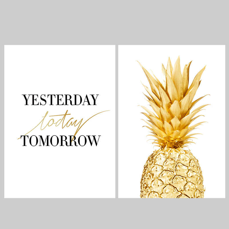WXDUUZ Modern Nordic Minimalist Plant Pineapple Large Art Prints Poster Abstract Wall Picture Canvas Painting Home Decor A86