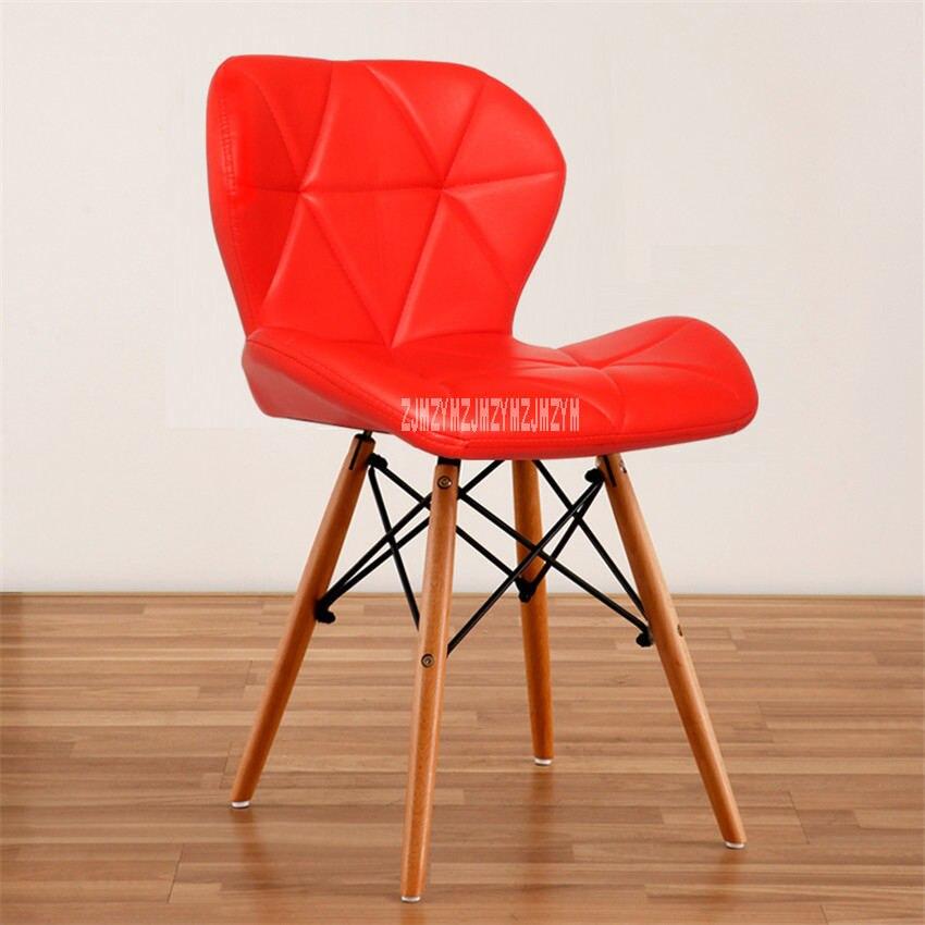 Деревянный стул для отдыха, современный креативный стул для гостиной, простой бытовой обеденный стул для кофе, офисное компьютерное кресло с спинкой - Цвет: F