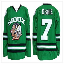 North Dakota Fighting Sioux 7 TJ Oshie College Hockey Jersey Embroidery  Stitched Customize any number and 9c807f0d3