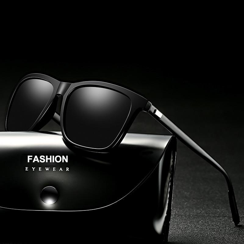 Polarized Sunglasses Men Night Vision Driving Aluminum Magnesium Sun Glasses Brand Square Unisex Travel Eyewear UV400 6108