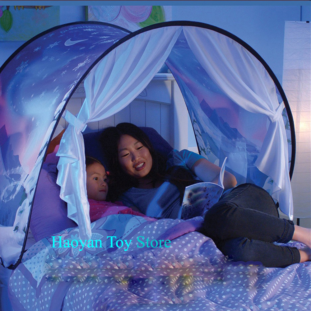 Latest Fashion Hot Kids Pop Up Bed Star Tent Playhouse Winter Wonderland Children Christmas Gifts Cute Tent Teepee