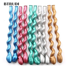 BTRUDI 10pcs Long  metal balloon helix hemp gold red mixed with thick DIY birthday bar KTV decorative layout