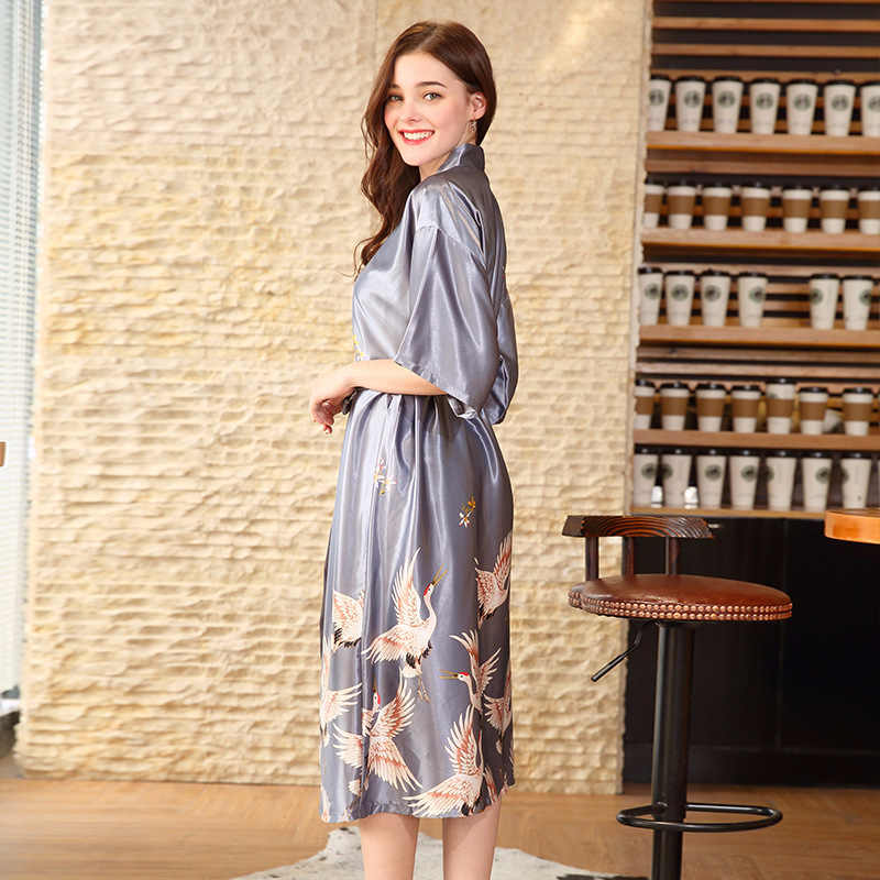... ENGAYI Brand Women Robes Bathrobes Sets Sexy Lace Silk Satin Pyjamas Sets  Nightgown Nightwear Night Gown ... 252fa98af