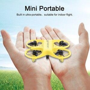 Image 5 - Mini RC QuadcopterอินฟราเรดควบคุมDrone 2.4GHzเครื่องบินLED Lightของขวัญวันเกิดสำหรับของเล่นเด็กMini Drones
