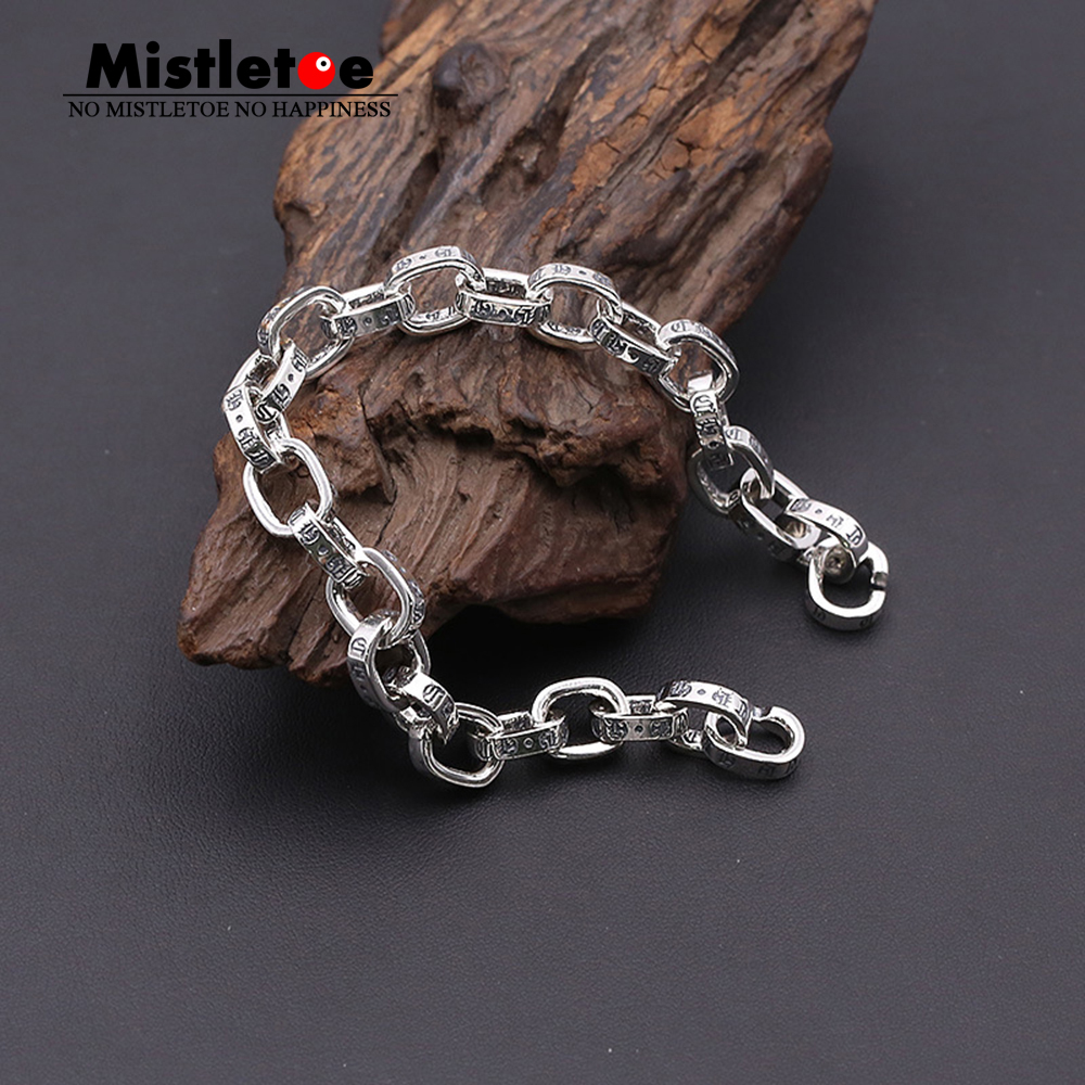 Authentic 925 Sterling Silver Vintage Punk Locomotive Cross Flower Link X Lock Bracelet For Women & Men Jewelry редакция газеты новая газета новая газета 111 2015