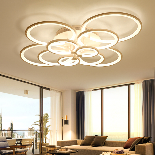 Chandelier acrylic modern led 46810 rings for bedroom metal chandelier acrylic modern led 46810 rings for bedroom metal body aloadofball Image collections