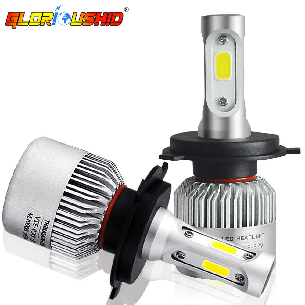 One Pair H3 LED H7 H4 H1 H11 H8 Auto Headlight Bulb HB4 H27 HB3 H13 9005 9006 881 Led Automotivo Car Fog Light 6500K 8000LM