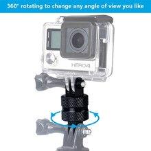 Универсальный вращающийся на 360 градусов Штатив Адаптер для Gopro Hero 8 7 6 5 4 Session YI 4K SJCAM eken Экшн-камера набор аксессуаров
