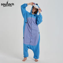 4ef8f8c412 Azul Personagem Dos Desenhos Animados Bisonho Donkey Kigurumi Animal  Macacão Pijama Mulheres Homens Casal Adulto Macacão de Inve.
