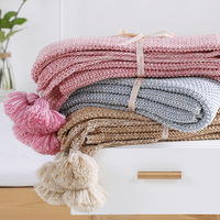 Super Soft Knitted Blankets Cotton Throws For Sofa 130*170CM Home Decorative Throw Blankets