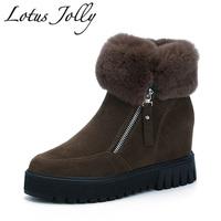 2017 Snow Shoes Women Winter Boots With Wool Fur Comfortable Ankle Women Boots Slip On Women