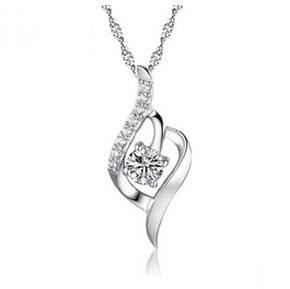 New 2016 hot sell fashion female 925 sterling silver pendant necklaces jewelry wholesale Valentines Gift