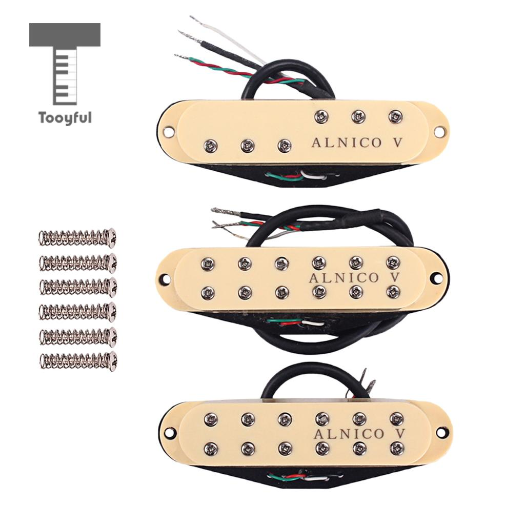 1 Set Alnico V Humbucker Pickup M/N/B for Strat ST Electric Guitar Replacement Parts