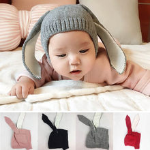 1c18e16bda5 Autumn Winter Toddler Infant Kintted Baby Hat Adorable Rabbit Long Ear Hat  Warm Soft Photp Prop Girls Hats Baby Bunny Beanie
